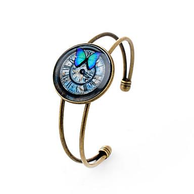 Amuletti-rannekorut Rannerenkaat minimalistisesta Gemstone Hopeoitu Lasi Metalliseos Animal Shape Butterfly Pronssi Korut VartenParty