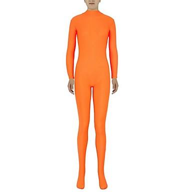 Zentai Anzüge Ninja Zentai Kostüme Cosplay Kostüme Orange Solide Gymnastikanzug/Einteiler Zentai Kostüme Elasthan Lycra Unisex Halloween