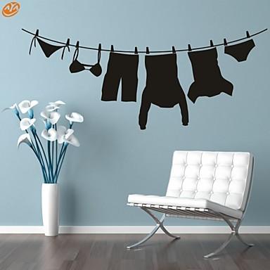 로맨스 / 패션 / 모양 / 추상 / 판타지 벽 스티커 플레인 월스티커,PVC M:42*104cm/ L:55*135cm