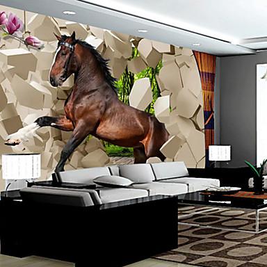 Art Decó 3D Decoración hogareña Moderno Revestimiento de pared, Lona Material adhesiva requerida Mural, Revestimiento de paredes de