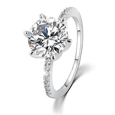 Anéis Pedras dos signos Casamento / Pesta / Diário / Casual Jóias Zircão Feminino Anéis Grossos 1pç,6 / 7 / 8 / 9 Transparente
