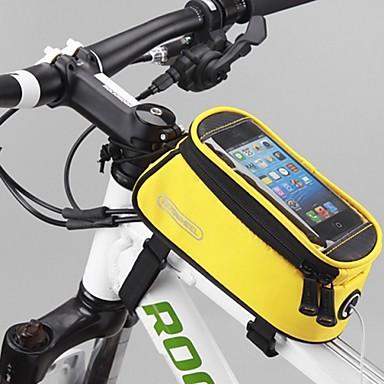 ROSWHEEL 자전거 가방 1.2L자전거 핸들바 백 방수 빠른 드라이 비 방지 싸이클 가방 나일론 테릴렌 싸이클 백 다른 유사한 크기의 전화 사이클링 / 자전거