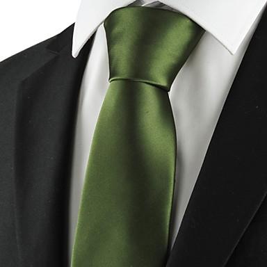 Homens Luxo Sólido Clássico Festa Casamento Gravata - Fashion Criativo