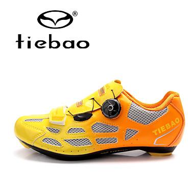 رخيصةأون أحذية ركوب الدراجة-Tiebao® Road Bike Shoes نايلون مقاوم للماء متنفس مكافح الانزلاق ركوب الدراجة برتقالي أخضر أزرق رجالي أحذية الدراجة / توسيد / تهوية / ستوكات صناعية PU / توسيد / تهوية