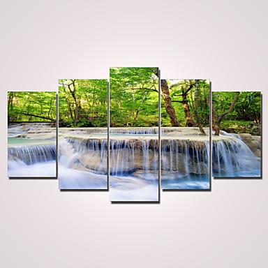 Estampados de Lonas Esticada Moderno 5 Painéis Horizontal Decoração de Parede Decoração para casa