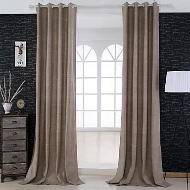 2 paneeli Window Hoito Uusklassiset , Tukeva Living Room Polyester/puuvillaseos materiaali verhot Drapes Kodinsisustus For Ikkuna