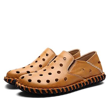 מוקסינים-גברים של נעליים-חתונה-עור-שחור / חום / צהוב