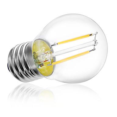 HRY 1pc 2W 180 lm E26/E27 LED-glødepærer A60(A19) 2 leds Høyeffekts-LED Dekorativ Varm hvit Kjølig hvit AC 220-240V