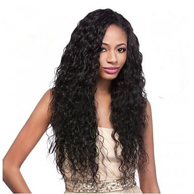 100% שיער אדם בתול ברזילאי פאה מתולתלת מלאה / תחרה מול עבור נשים שחורות
