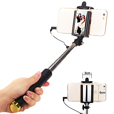 Selfie-tikku Johdolliset Pidennettävä Maksimi pituus 110cm Kansainvälinen Android iOS Apple Samsung Galaxy Huawei