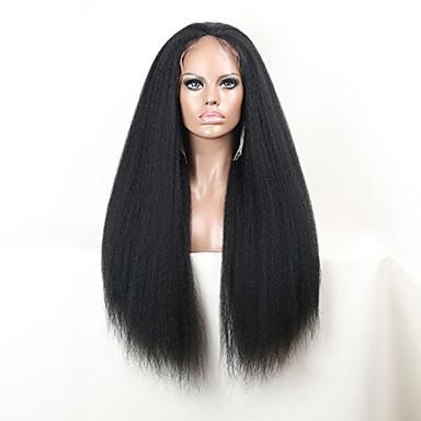 Emberi haj Csipke Csipke eleje Paróka Göndör 130% 150% Sűrűség 100% kézi csomózású Afro-amerikai paróka Természetes hajszálvonal Rövid