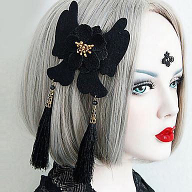 Nakit Gothic Lolita Šeširi Vintage inspirirano / Viktoriánus Crn Lolita Pribor Glava Cvjetni print Za Žene