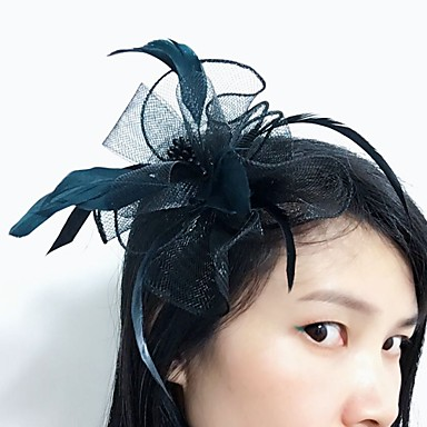 pero net fascinators headpiece elegantan klasični ženski stil