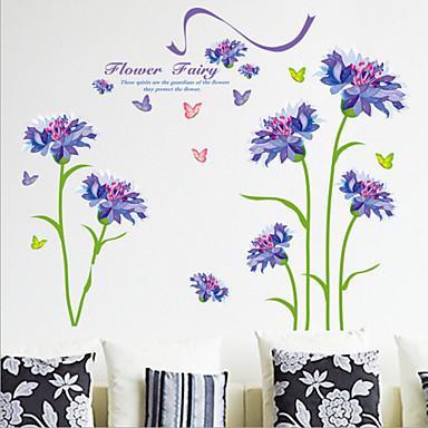 Dekorative Wand Sticker - Flugzeug-Wand Sticker Blumen Wohnzimmer / Schlafzimmer / Esszimmer