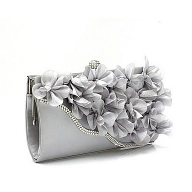 cheap Clutches & Evening Bags-Women's Flower Evening Bag Chiffon Black / Fuchsia / Pink