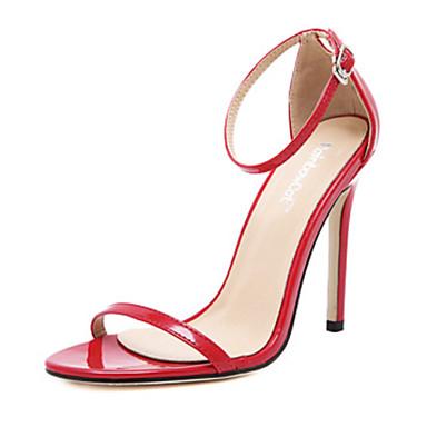Ženske cipele-Sandale-Aktivnosti u prirodi / Ležerne prilike-PU-Stiletto potpetica-Štikle / Cipele otvorenih prstiju-Crna / Crvena /