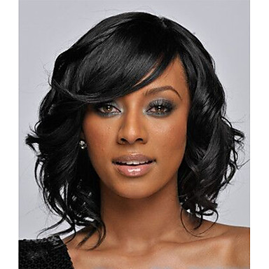 Synthetic Hair Wigs Wavy Capless Natural Wigs Short