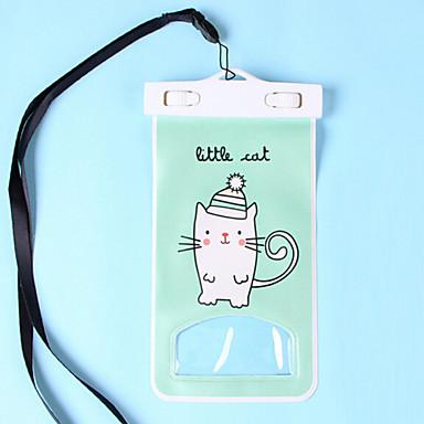 Kuivalaukku Kännykkäkotelo varten iPhone Vedenkestävä Kosketusnäyttö PVC