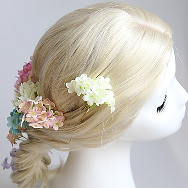 kangas kukat headpiece häät juhla tyylikäs klassinen naisellinen tyyli