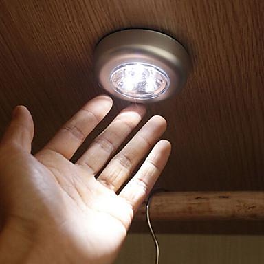 3 הובילו לגעת מנורת אור שלושה pights טפיחת אור אור קבינט רכב אורות חירום בבית קיר מנורת לילה אור