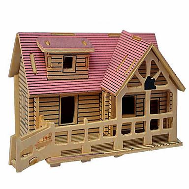 Jigsaw Puzzle 3D építőjátékok Fából készült építőjátékok Építőkockák DIY játékok Ház Fa