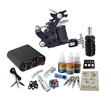basekey tatovering kit jh558 en maskin med strømforsyning grep 3x10 ml blekk