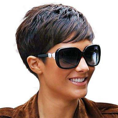 אופנת 4inch רמי אף פאות תחרה קצרות בלי כומתה, שיער הבתולה ברזילאית קצר ריהאנה סגנון