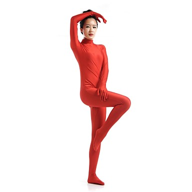 Zentai Drakter Ninja Zentai Cosplay-kostymer Rød Ensfarget Trikot/Heldraktskostymer Zentai Spandex Elastan Unisex Halloween
