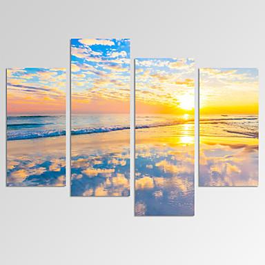 Sažetak Pejzaž Photographic Moderna Romantični Pop art Fantazija Slobodno vrijeme Četiri plohe Horizontalan Print Zid dekor Početna