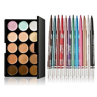 15 boja konture lice krema šminka korektor palete + 12 kom šarene sjenilo dugotrajan tuš za oči