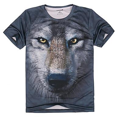 חית דפוס חולצת טריקו כותנה לנשימה לציד / הליכה / דיג