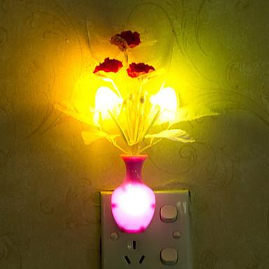 אגרטל יפה צבע-שינוי מנורת הלילה הוביל חירום מבוקר אור חכמה לקישוט בית חדר ילדים (צבע אקראי)