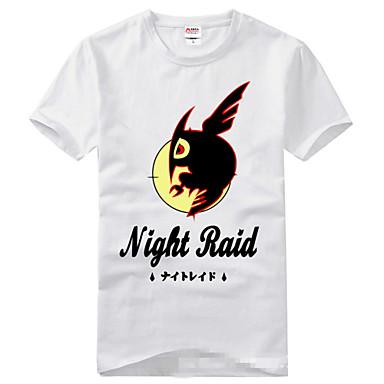 Inspirado por Akame Ga matar! Fantasias Anime Fantasias de Cosplay Cosplay T-shirt Estampado Manga Curta Camiseta Para Unisexo