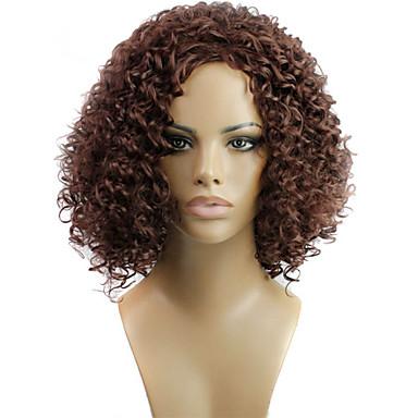 Synteettiset hiukset Peruukit Kihara Suojuksettomat Lyhyt