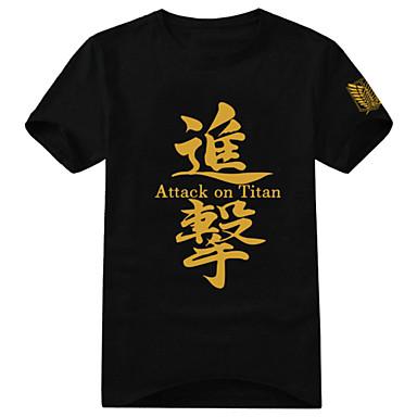 에서 영감을 받다 Attack on Titan Eren Jager 에니메이션 코스프레 코스츔 코스프레 T 셔츠 프린트 짧은 소매 티셔츠 제품 남여 공용