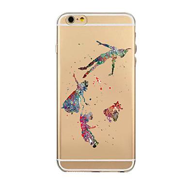 värillinen piirros tai kuvio tpu läpinäkyvä soft shell puhelin kotelo takakantta tapauksessa iphone6 plus / 6s plus