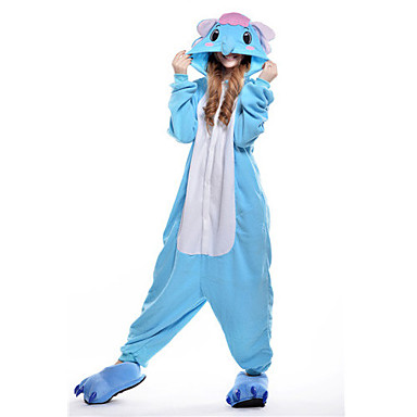 Slon Pyžamo Onesie Kostým polar fleece Modrá Cosplay Pro Dospělé Animal Sleepwear Karikatura Halloween Festival / Svátek / Vánoce