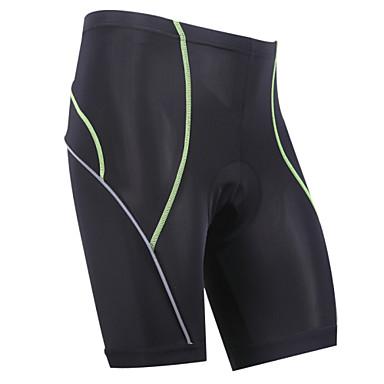 KORAMAN Herrn Gepolsterte Fahrradshorts Fahhrad Shorts / Laufshorts / Gepolsterte Shorts / Unten 3D Pad, Anatomisches Design, UV-resistant Klassisch, Schlank Lycra Schwarz / Rrot / Schwarz / grün