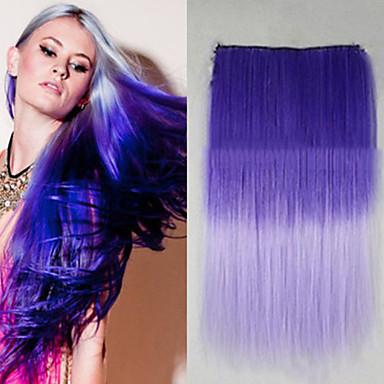 kuuma myynti hyvä lämmönkesto sekoitettu väri 26 tuumaa pitkä suora 5 clip hiuslisäke laajennus