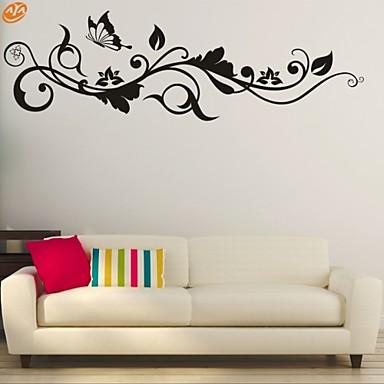 Romance / Moda / Floral Wall Stickers Autocolantes de Aviões para Parede,PVC M:42*130cm / L:55*180cm