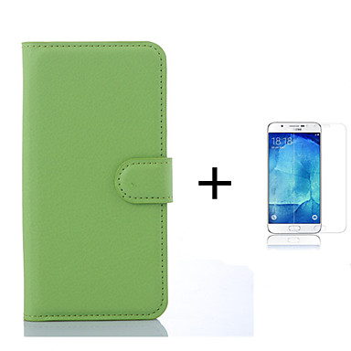 Varten Korttikotelo / Lomapkko / Tuella / Flip Etui Kokonaan peittävä Etui Yksivärinen Kova Tekonahka Samsung S6 edge