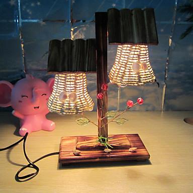 kreative Holz Doppel leichte Segel Lampe Dekoration Schreibtischlampe Schlafzimmerlampe Geschenk für Kind