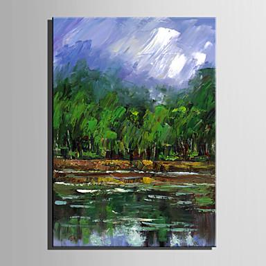 Ručno oslikana PejzažEuropska Style Jedna ploha Platno Hang oslikana uljanim bojama For Početna Dekoracija