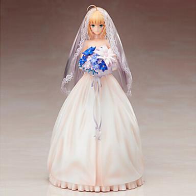 Figuras de Ação Anime Inspirado por Fate/Stay Night Saber PVC 25 CM modelo Brinquedos Boneca de Brinquedo