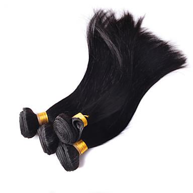 Классика Прямой силуэт Малазийские волосы Ткет человеческих волос Наращивание волос 0.3kgПовседневные Классика Прямой силуэт Высокое