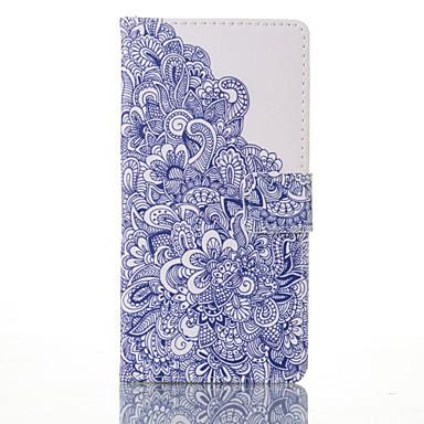 Käyttötarkoitus Samsung Galaxy S7 Edge kotelot kuoret Korttikotelo Lomapkko Tuella Flip Kuvio Kokonaan peittävä Etui Kukka PU-nahka varten
