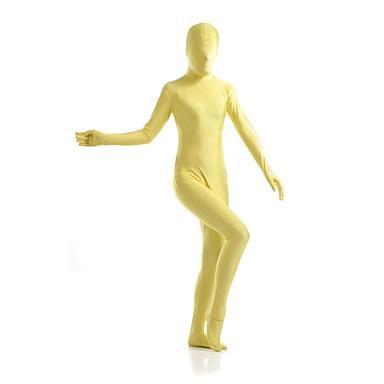 Zentai Anzüge Ninja Zentai Kostüme Cosplay Kostüme Gelb Solide Gymnastikanzug / Einteiler Zentai Kostüme Elasthan Lycra Herrn Damen