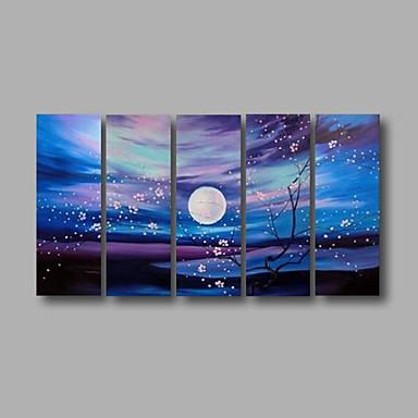 Handgemalte Landschaft jede Form, Modern Segeltuch Hang-Ölgemälde Haus Dekoration Fünf Panele