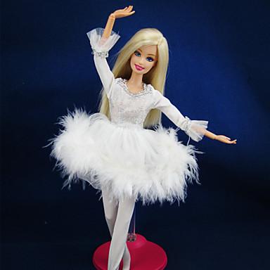 Casual Vestidos Para Boneca Barbie Renda Cetim Vestido Para Menina de Boneca de Brinquedo