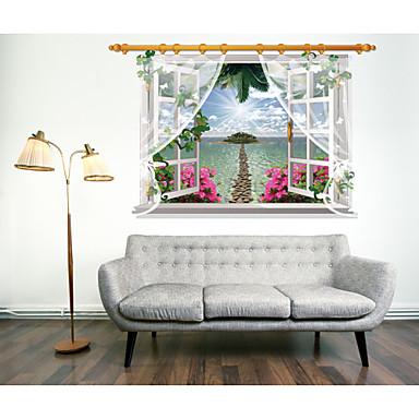 Kasvitieteellinen / Asetelma / Kukkakuviot / Maisema Wall Tarrat 3D-seinätarrat,pvc 90*60CM